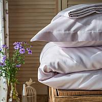Постельное белье полуторное Комильфо люкс-сатин 160х220 белый KT0023