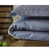 Постельное белье полуторное Комильфо люкс-сатин 160х220 серо-голубой KT0025