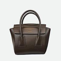 Стильна сумка коричнева середня шкіряна 6695, фото 1