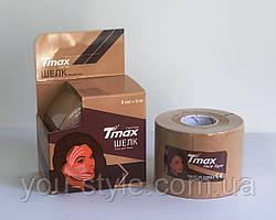 Тейп для лица Tmax Tape 5см х 5м ШЕЛК Бежевый