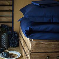 Постельное белье полуторное Комильфо люкс-сатин 160х220 синий KT0027