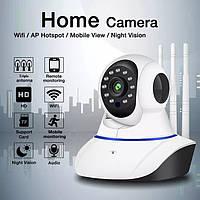 Камера видеонаблюдения WIFI Q5 ночная сьемка, 3 антены, запись. Веб вай фай, Web ip камера онлайн wi-fi