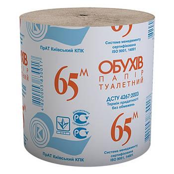 """Бумага туалетная рул.ТМ """"Обухов 65"""""""