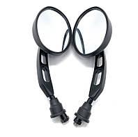 Мото зеркала,заднего вида, realzion mirror 120030, метал, антиблик, универсальные, 8-10 mm, черный