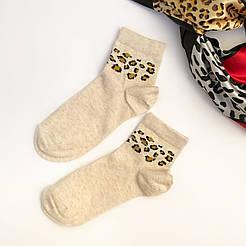Женские демисезонные носки V&T socks з леопардовым принтом