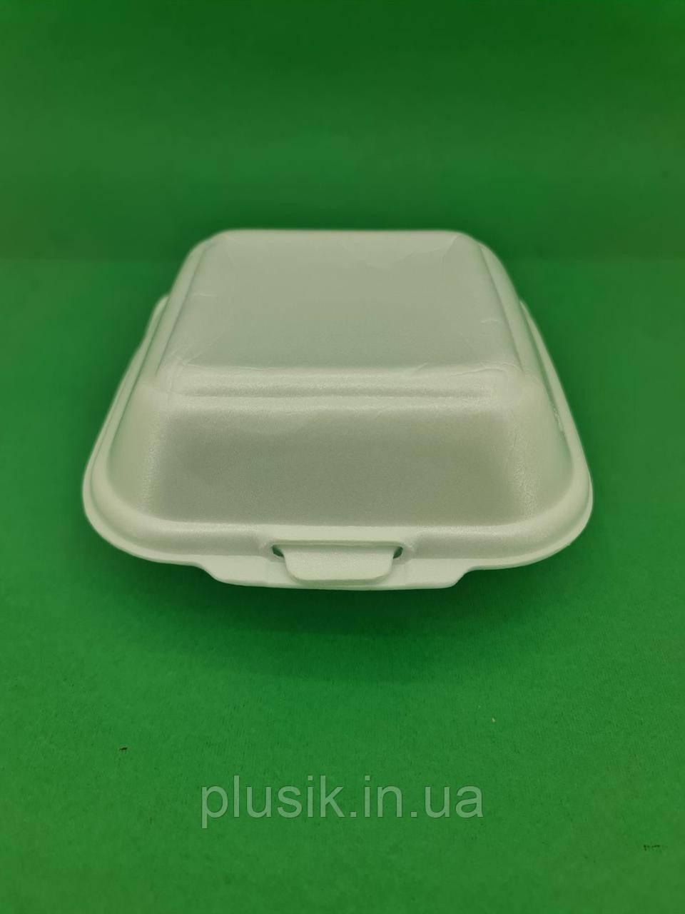 Ланч-бокс з спіненого полістиролу з кришкою (150*152*60) білий HP-6 (250 шт)