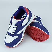 Кроссовки подростковые для девочек синие с белым LaVento