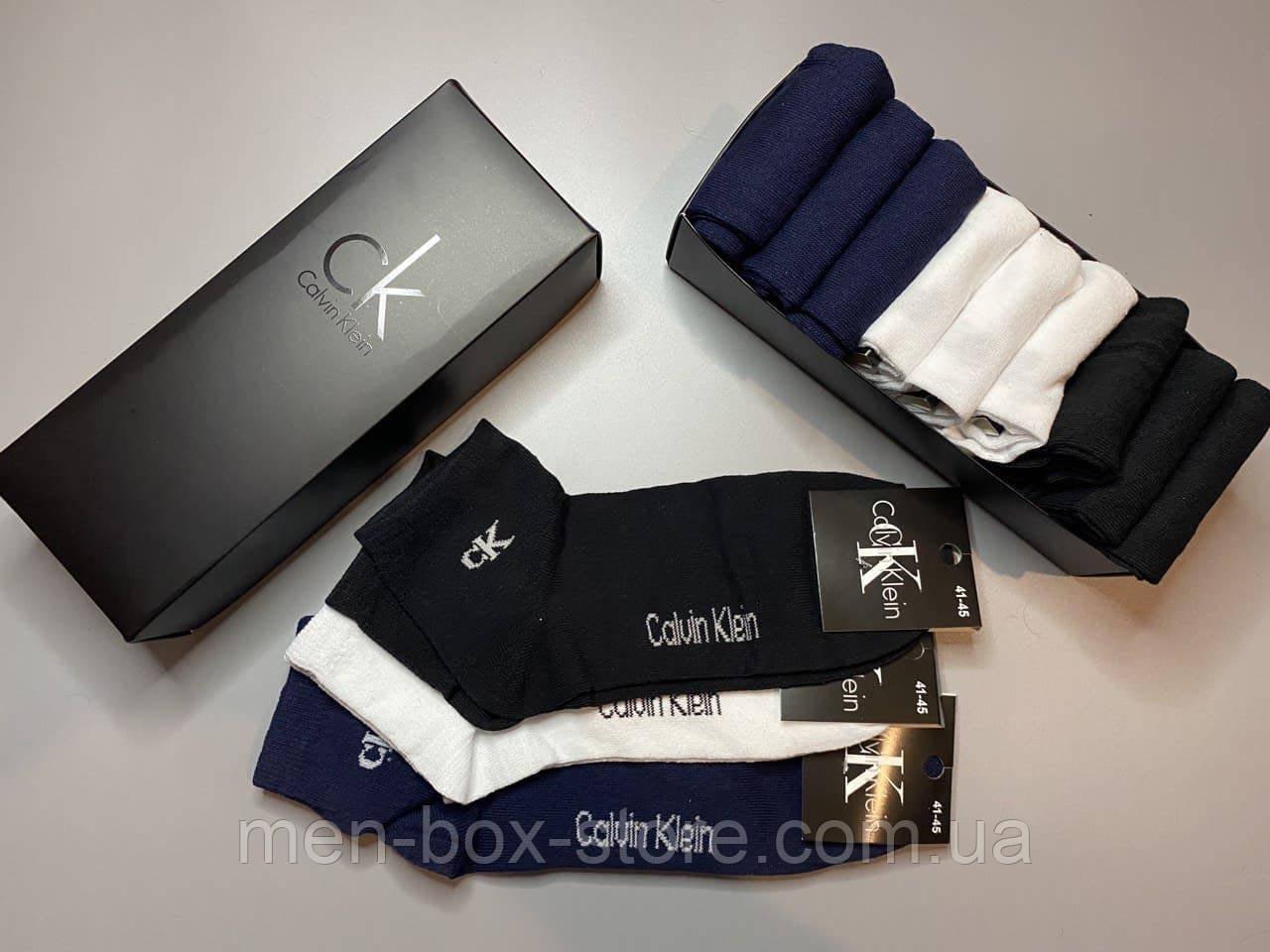 Мужские носки  9 пар Calvin в фирменной коробке!носки мужские носки средние носки турция носки хлопок носки