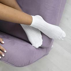 Нежные женские носки V&T socks с мережевным декором