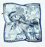 Шийна хустка Вояж 70х70 см блакитний