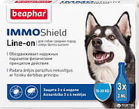 Краплі Beaphar Immo Shield Line-on for Medium Dogs антипаразитные з диметиконом для собак 15-30 кг 3 піпетки