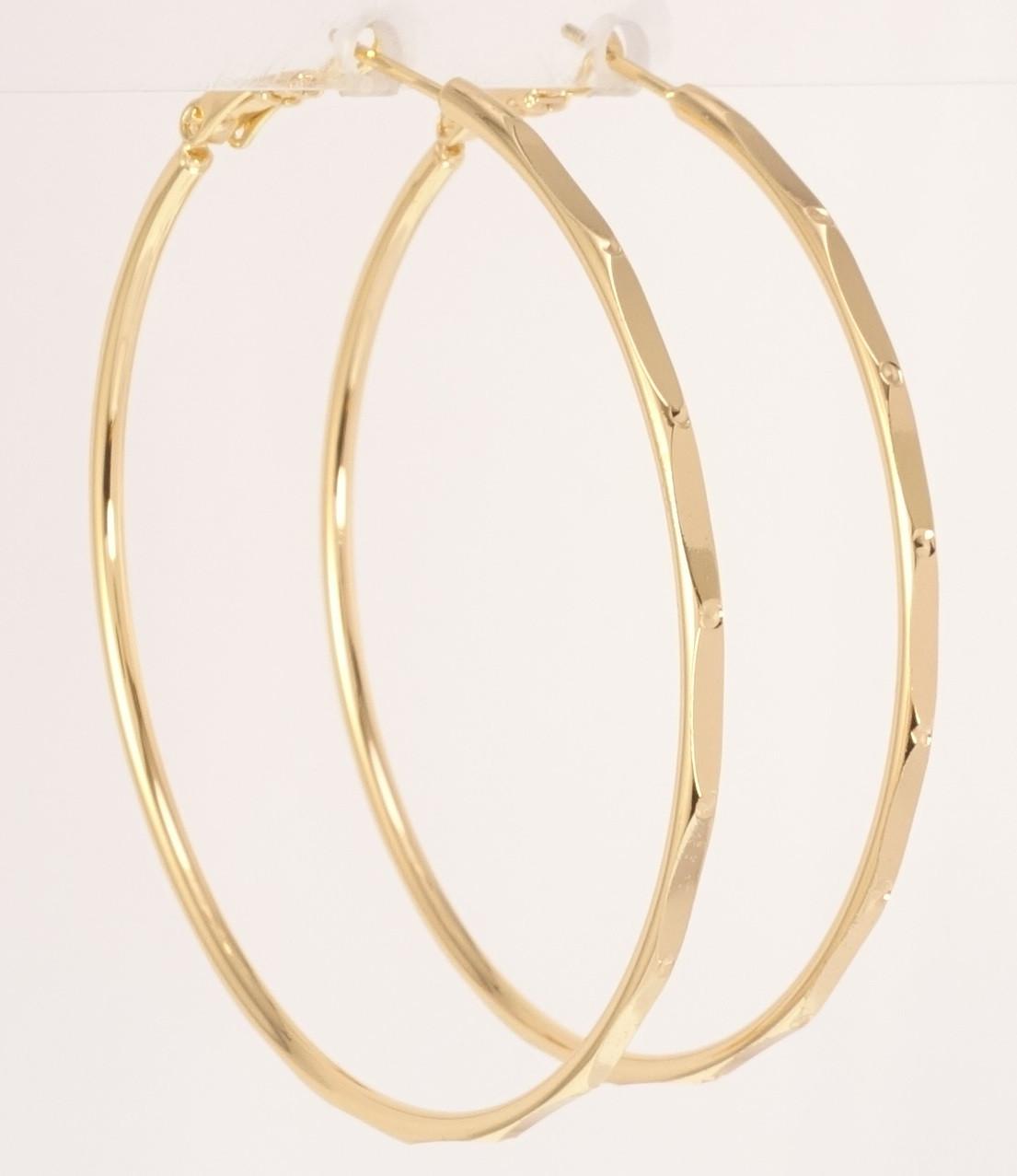 """Сережки M&L жовтий відтінок кільця (конго) """"Декоративний орнамент"""" ø 5,5 см"""