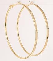 """Сережки M&L жовтий відтінок кільця (конго) """"Декоративний орнамент"""" ø 5,5 см, фото 1"""