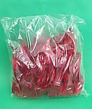 Вилка одноразова пластикова для фруктів Юніта Червона (250 шт), фото 2