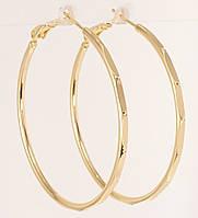 """Серьги M&L желтый оттенок кольца (конго) """"Декоративный орнамент с точками"""" ø 4,5см, фото 1"""
