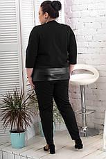Брюки женские на резинке большого размера батал, фото 2