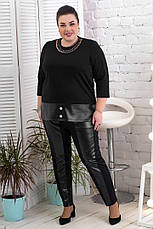 Штани жіночі на резинці великого розміру батал, фото 3