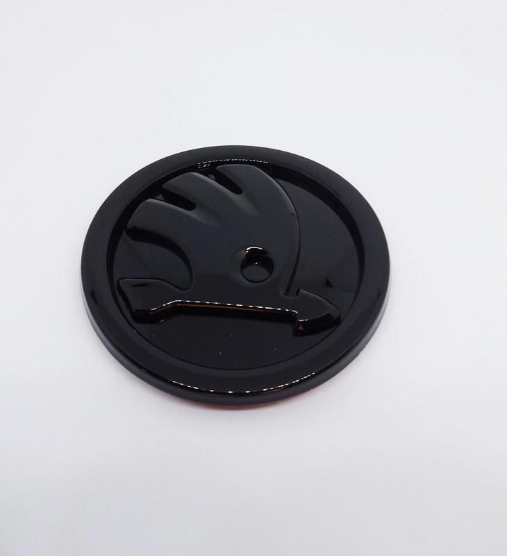 Емблема Skoda чорна 80 мм.