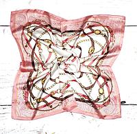 Шийна хустка Хільда 70х70 см рожевий