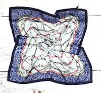 Шийна хустка Хільда 70х70 см синій