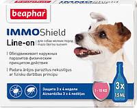Краплі Beaphar Immo Shield Line-on for Medium Dogs антипаразитные з диметиконом для собак 1-15 кг 3 піпетки
