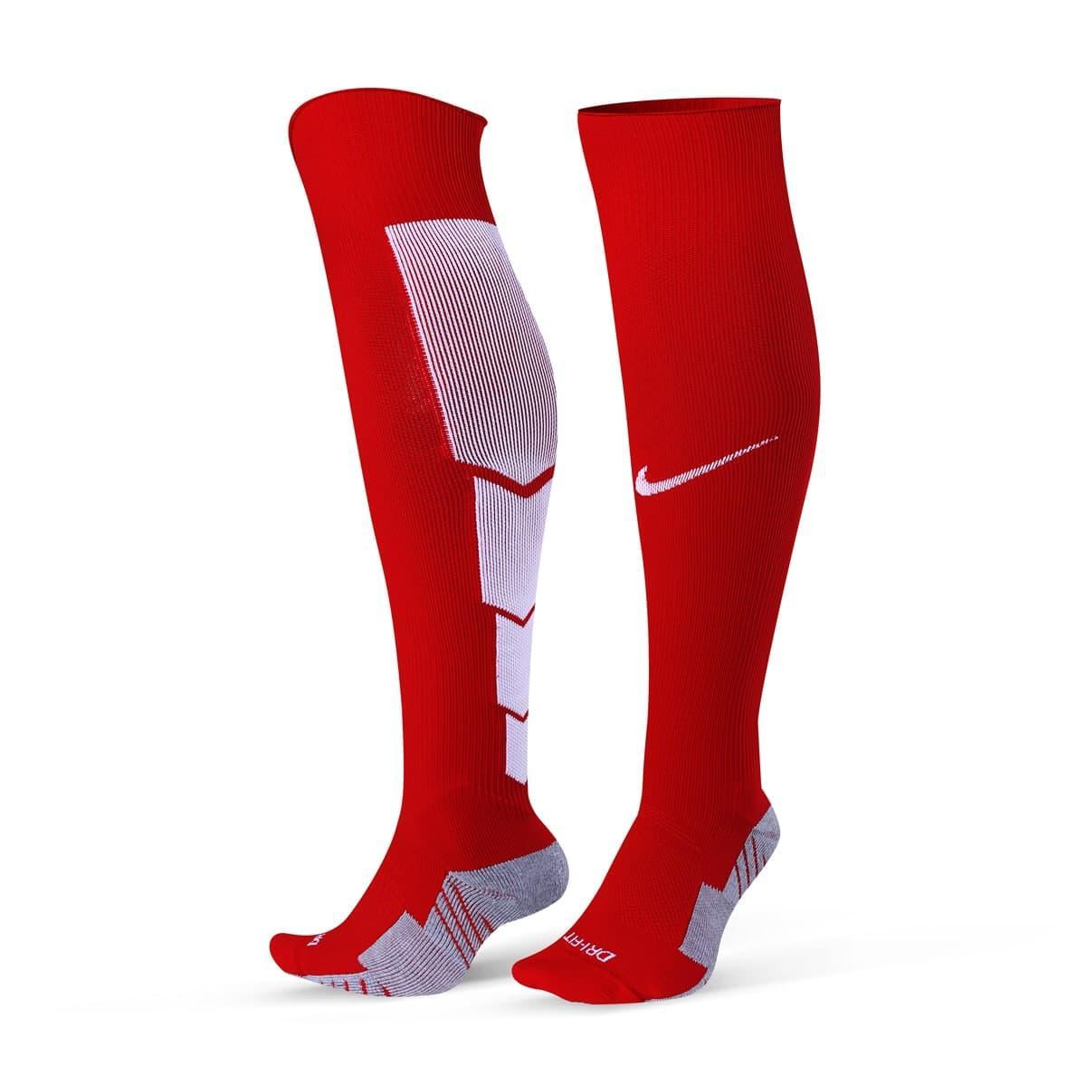 Футбольные гетры Nike (красные)