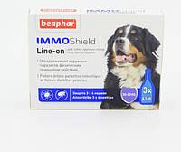 Краплі Beaphar Immo Shield Line-on for Medium Dogs антипаразитные з диметиконом для собак від 30 кг 3 піпетки