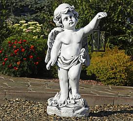 Садова фігура Ангел з ліхтарем + LED 81х38х26 см