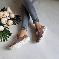 Бежевые замшевые кроссовки TED CASUAL