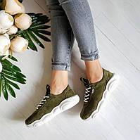 Замшевые кроссовки TED CASUAL цвета хаки