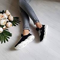 Черные замшевые кроссовки TED CASUAL