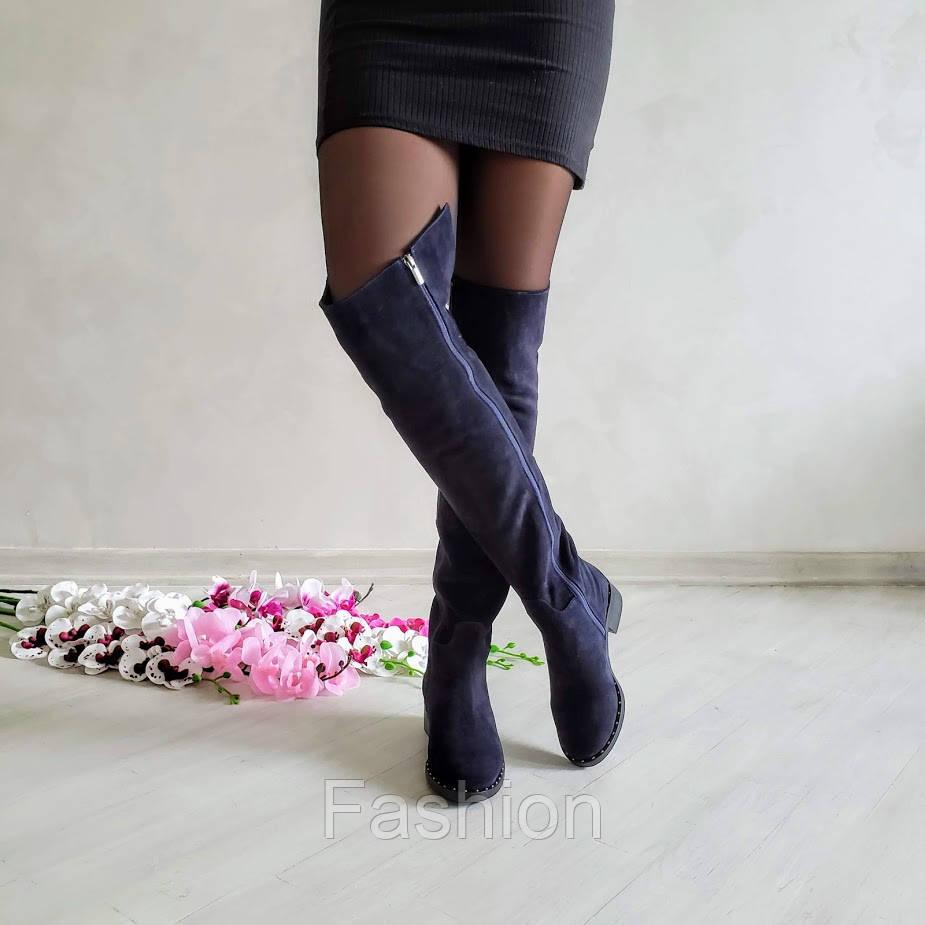 Чорнильні високі замшеві чоботи Luxury 40-26см, Зима