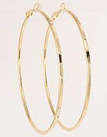 """Сережки M&L жовтий відтінок кільця (конго) """"Декоративний орнамент"""" ø 6,5 см, фото 1"""