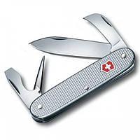 Нож швейцарский складной Victorinox Alox Pioneer оригинал (93 мм,6 функций) серебристый 0.8140.26