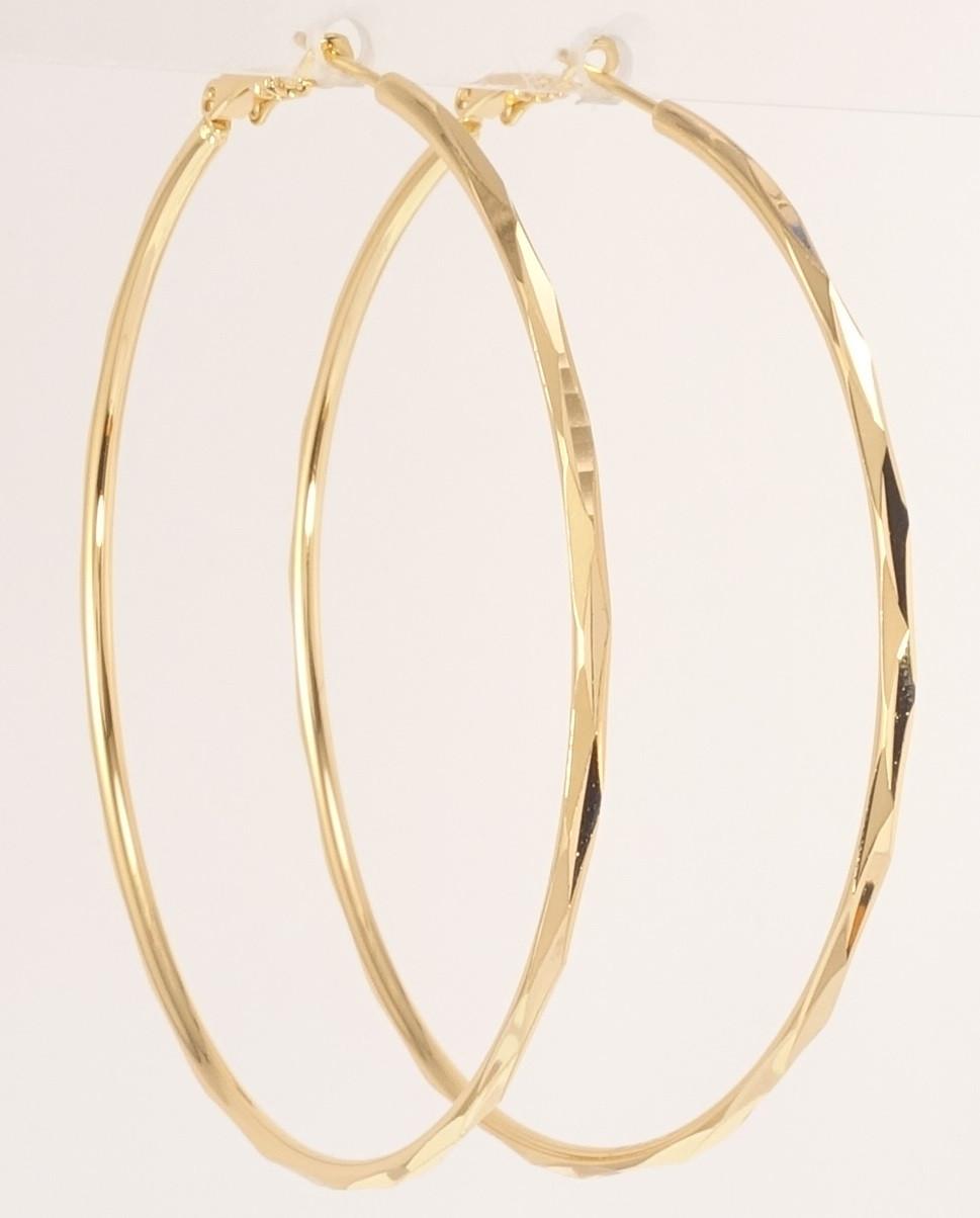 """Серьги M&L желтый оттенок кольца (конго) """"Декоративный орнамент"""" ø 6,5см"""