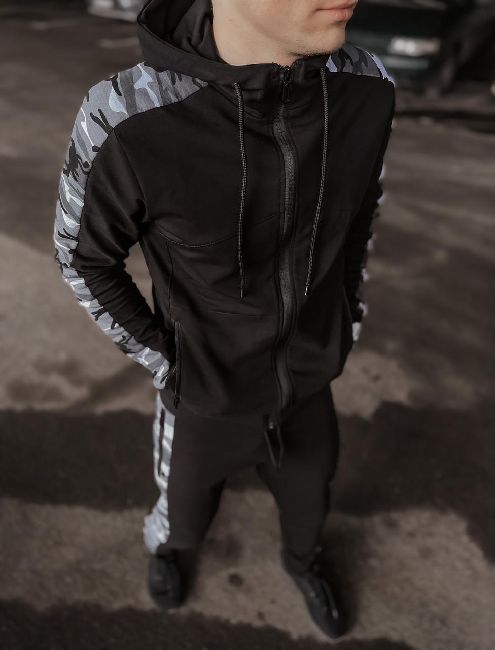 Кофта Мужская Intruder Dazzle спортивная толстовка с капюшоном черная Intruder