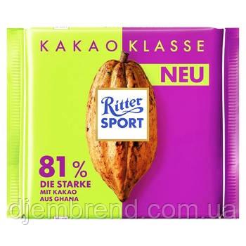 Шоколад Ritter Sport «Kakao Klasse» 81%, 100г.