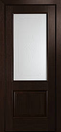 Двері міжкімнатні Вілла Р1 скло сатин каштан, 800