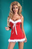Сексуальное мини-платье Снегурочки Christmas Honey LC