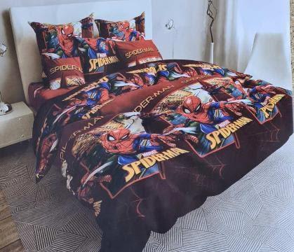Комплект постельного белья Бязь Голд полуторка Питер Паркер