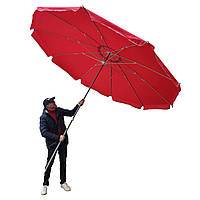 Зонт 3.5м Брезент Клапан 10 спиц (10мм) РАЗНЫЕ ЦВЕТА Чехол, фото 1