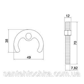 Крепление для смесителя Lidz (CRM) 56 00 010 00 с одной шпилькой, фото 2
