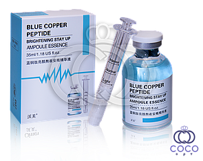 Ампульная сыворотка Blue Copper Peptide Brightening Stay Up Ampoule Essence с пептидами меди
