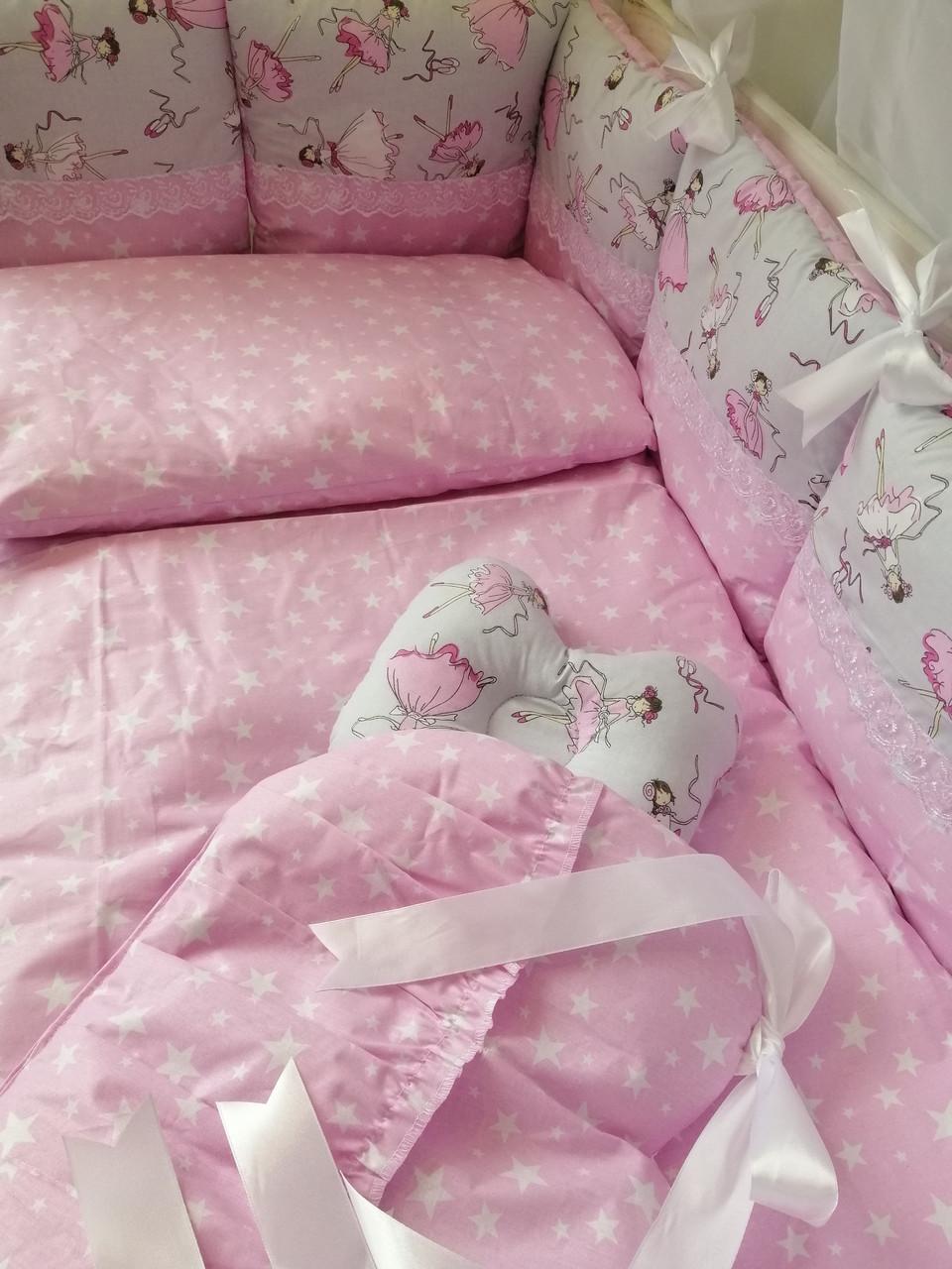 Элитный  постельный комплект для новорожденных