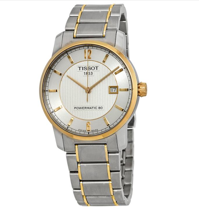 Годинники чоловічі Tissot T-Classic Automatic Titanium T087.407.55.037.00 POWERMATIC 80