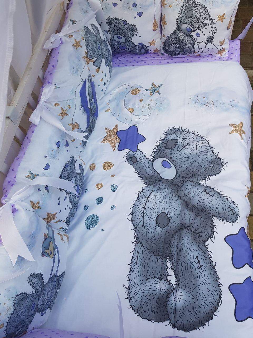 Постельное белье с принтом животных для новорожденных