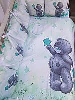 Постельное белье с принтом животных для новорожденных, фото 1