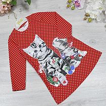 Детское трикотажное платье, размер: 2-3-4-5 лет (4 ед. в уп. )