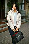 Стильна куртка жіноча демісезонна великих розмірів, фото 3