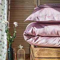 Постельное белье полуторное Комильфо люкс-сатин 160х220 розовый KT0028